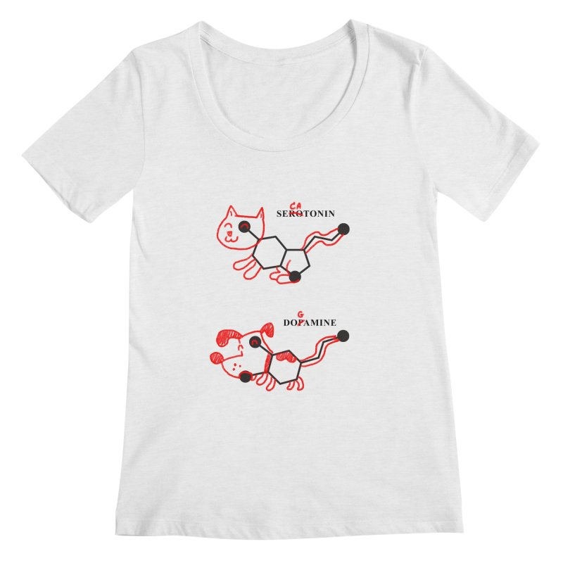 The Hormones of Happiness Women's Scoopneck by Rodrigobhz