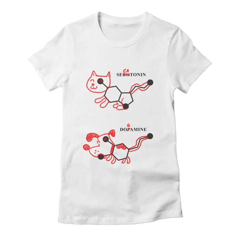 The Hormones of Happiness Women's Fitted T-Shirt by Rodrigobhz