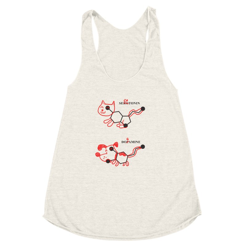 The Hormones of Happiness Women's Racerback Triblend Tank by Rodrigobhz