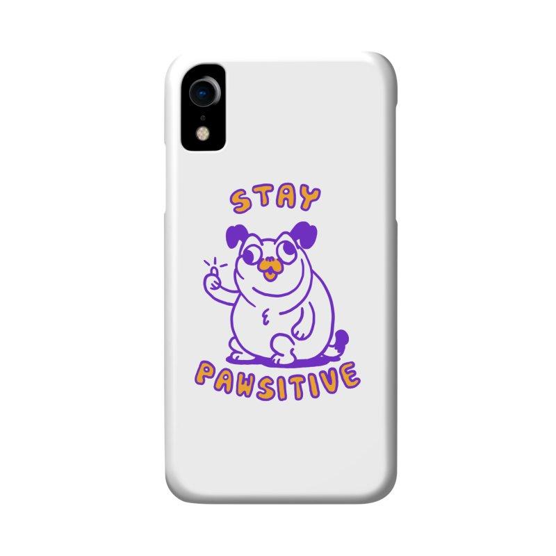 Stay Pawsitive (Dog version) Accessories Phone Case by Rodrigobhz