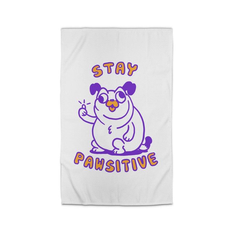 Stay Pawsitive (Dog version) Home Rug by Rodrigobhz
