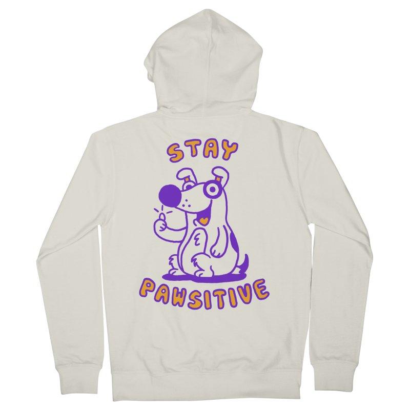 Stay Pawsitive (Dog version) Men's Zip-Up Hoody by Rodrigobhz