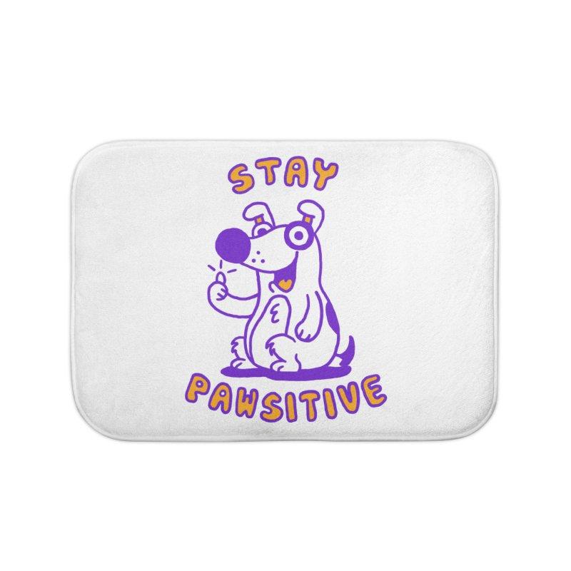 Stay Pawsitive (Dog version) Home Bath Mat by Rodrigobhz