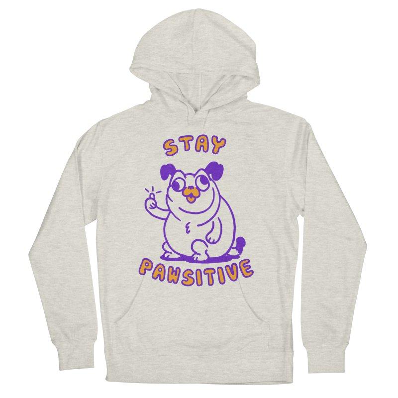 Stay Pawsitive (Dog version) Men's Pullover Hoody by Rodrigobhz