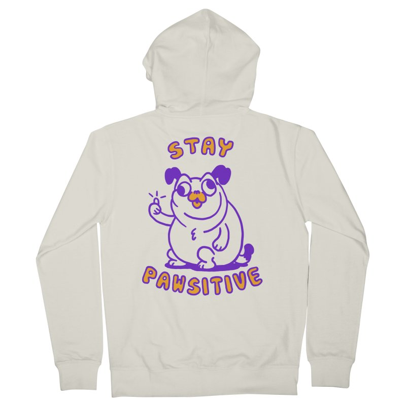 Stay Pawsitive (Dog version) Men's Zip-Up Hoody by Rodrigobhz