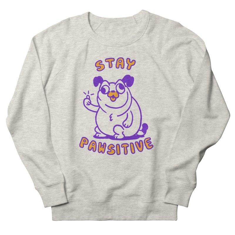 Stay Pawsitive (Dog version) Women's Sweatshirt by Rodrigobhz