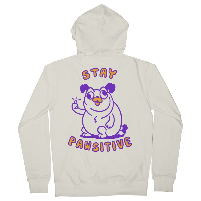 Stay Pawsitive (Dog version) Women's French Terry Zip-Up Hoody by Rodrigobhz