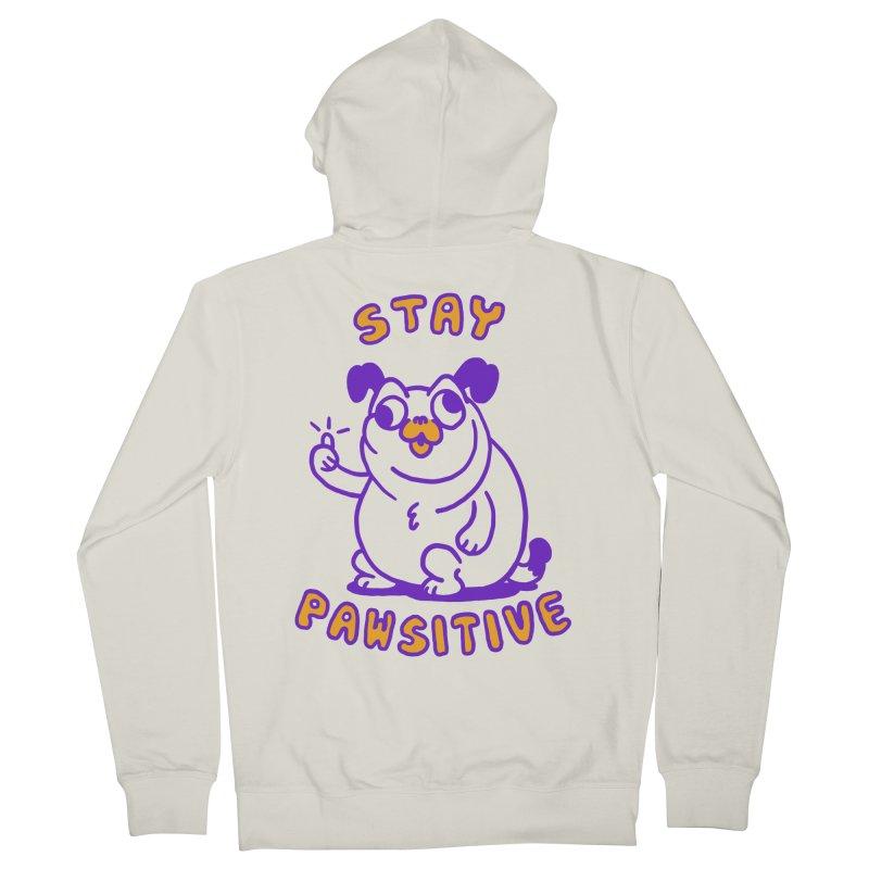 Stay Pawsitive (Dog version) Men's French Terry Zip-Up Hoody by Rodrigobhz