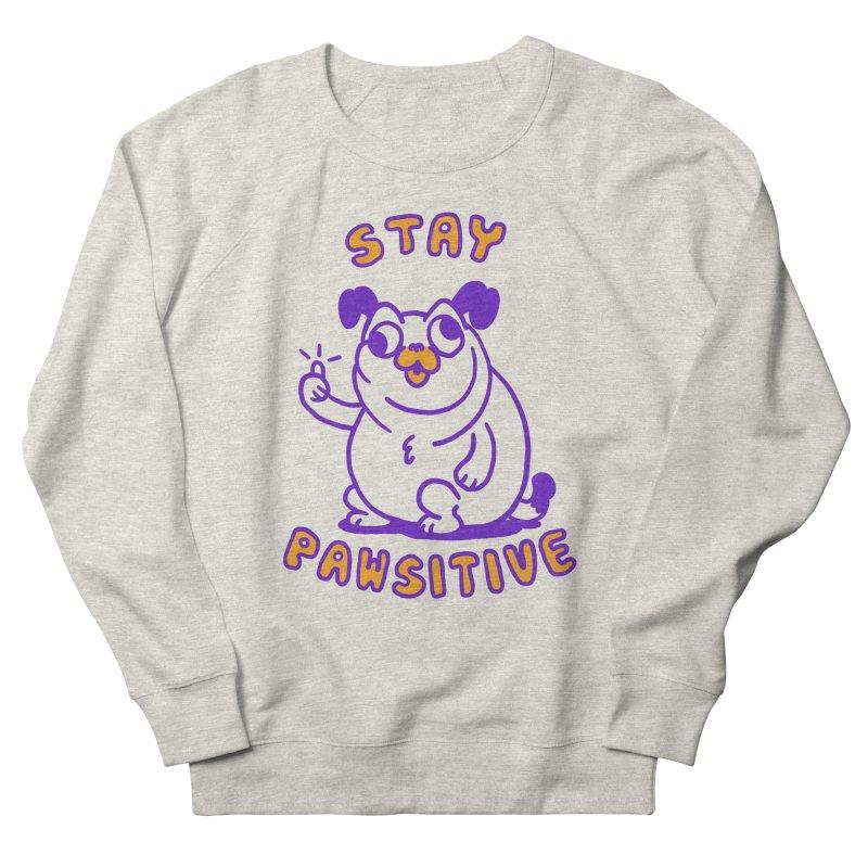 Stay Pawsitive (Dog version) Men's French Terry Sweatshirt by Rodrigobhz