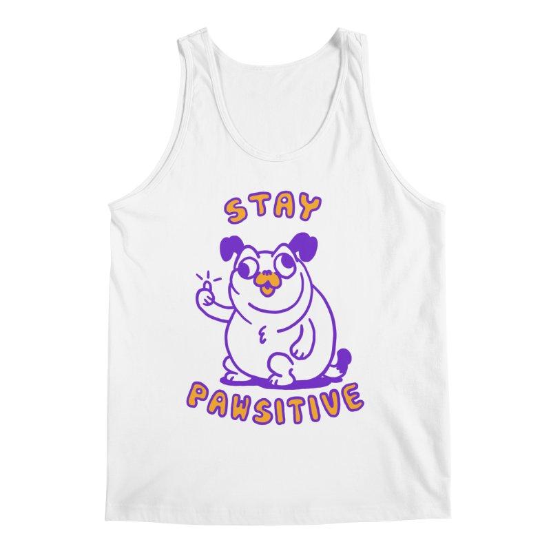 Stay Pawsitive (Dog version) Men's Tank by Rodrigobhz