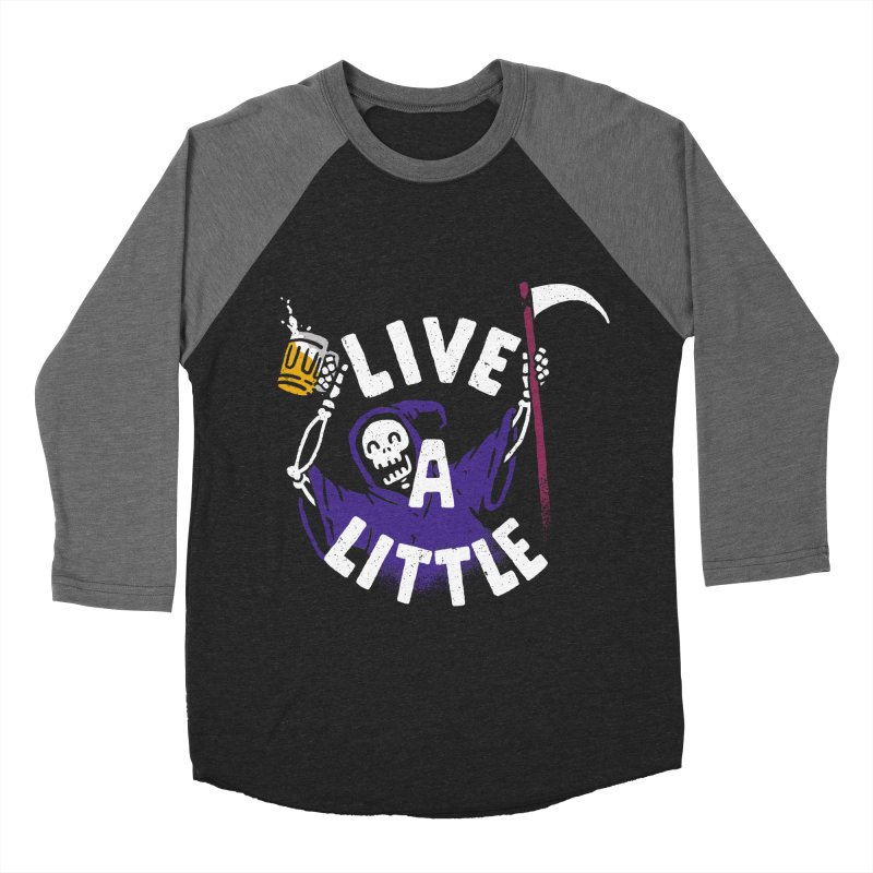 Live a little Men's Baseball Triblend T-Shirt by Rodrigobhz
