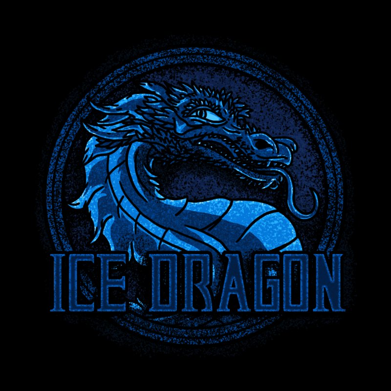Ice Dragon Men's Zip-Up Hoody by Rodrigobhz