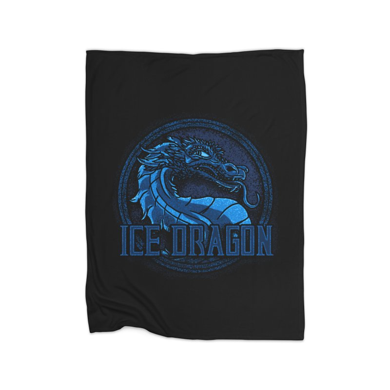 Ice Dragon Home Fleece Blanket by Rodrigobhz