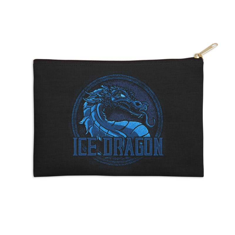 Ice Dragon Accessories Zip Pouch by Rodrigobhz