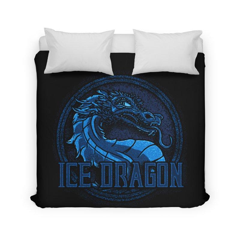 Ice Dragon Home Duvet by Rodrigobhz