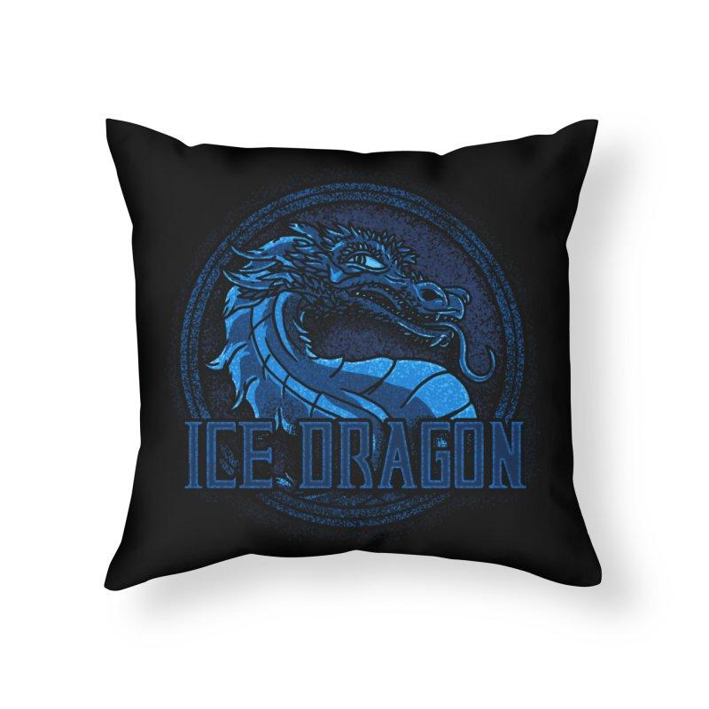 Ice Dragon Home Throw Pillow by Rodrigobhz