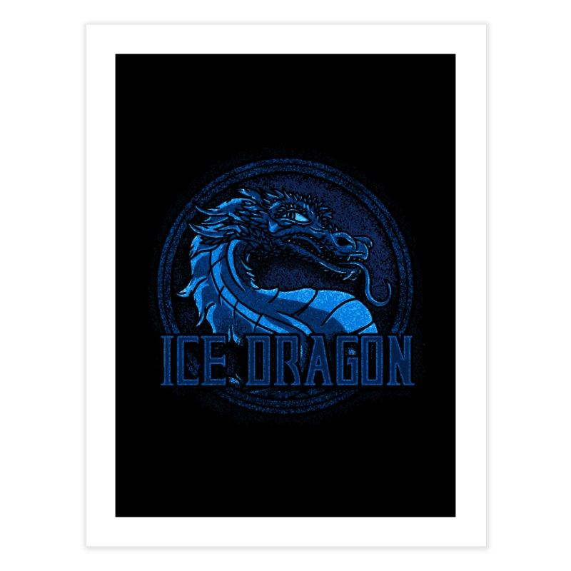 Ice Dragon Home Fine Art Print by Rodrigobhz