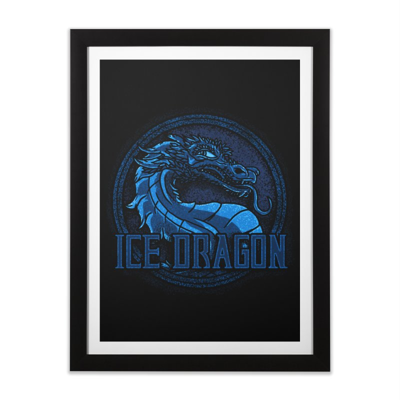Ice Dragon Home Framed Fine Art Print by Rodrigobhz