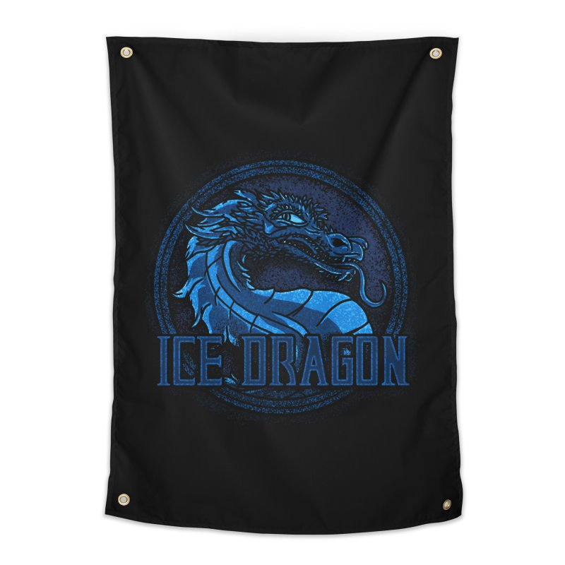Ice Dragon Home Tapestry by Rodrigobhz