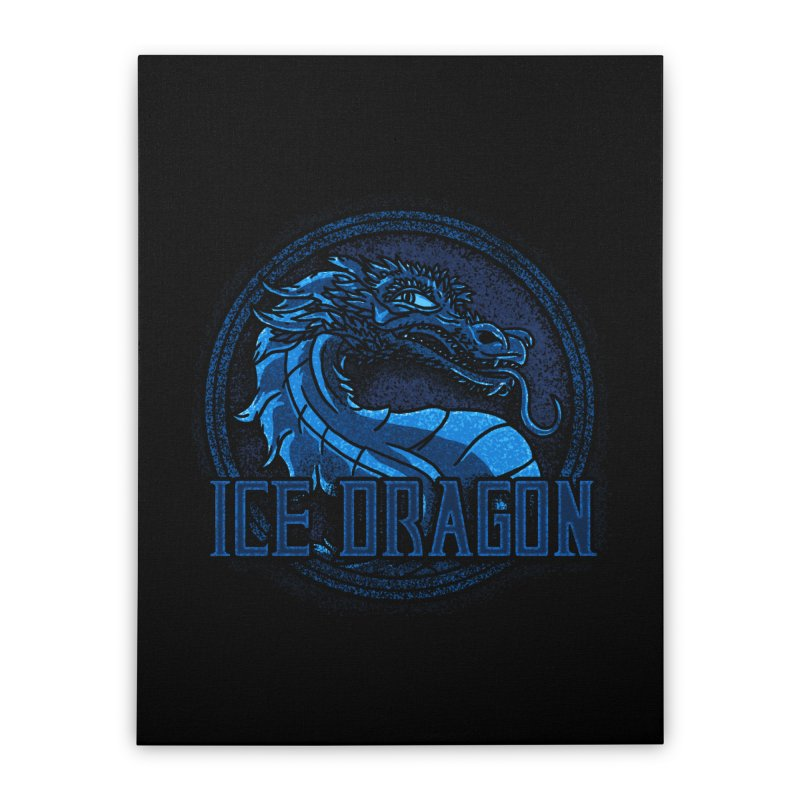 Ice Dragon Home Stretched Canvas by Rodrigobhz