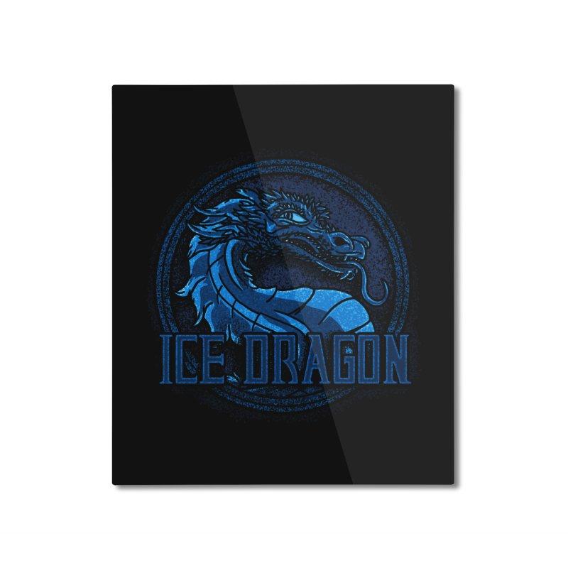 Ice Dragon Home Mounted Aluminum Print by Rodrigobhz