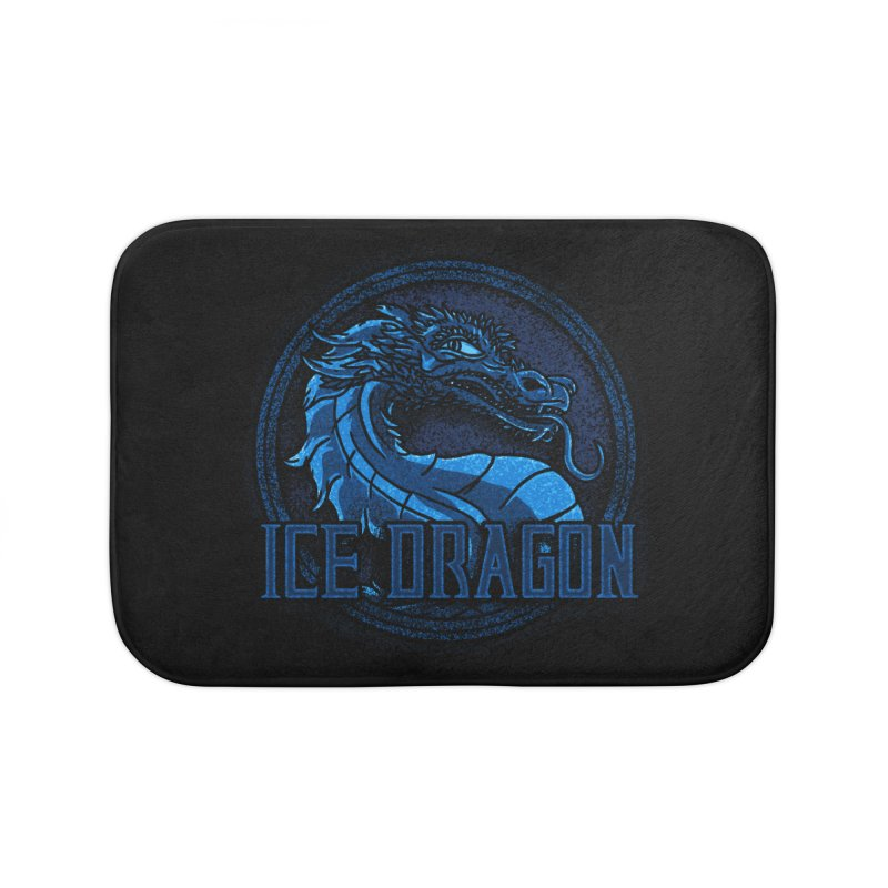 Ice Dragon Home Bath Mat by Rodrigobhz