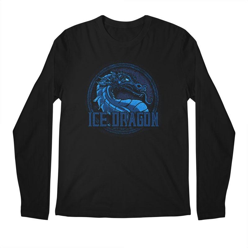 Ice Dragon Men's Longsleeve T-Shirt by Rodrigobhz