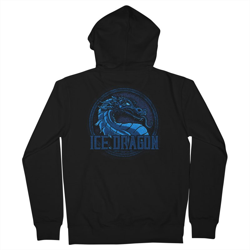Ice Dragon in Men's Zip-Up Hoody Black by Rodrigobhz