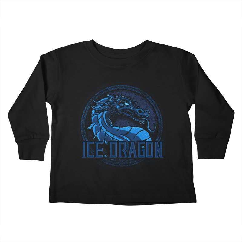 Ice Dragon Kids Toddler Longsleeve T-Shirt by Rodrigobhz