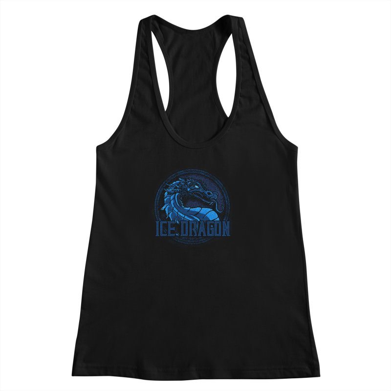 Ice Dragon Women's Racerback Tank by Rodrigobhz