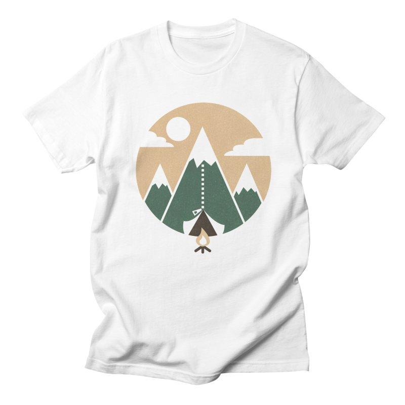 Mountain tent Men's T-Shirt by Rodrigobhz