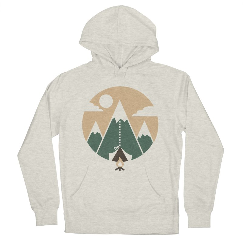 Mountain tent Men's French Terry Pullover Hoody by Rodrigobhz