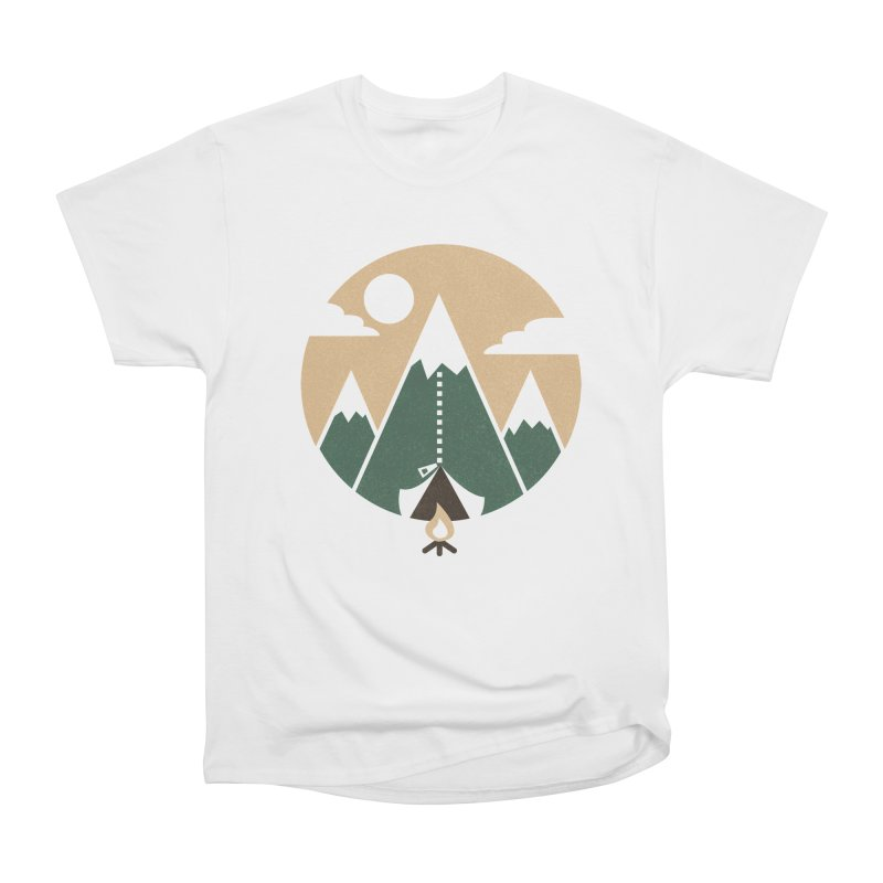 Mountain tent Men's Heavyweight T-Shirt by Rodrigobhz