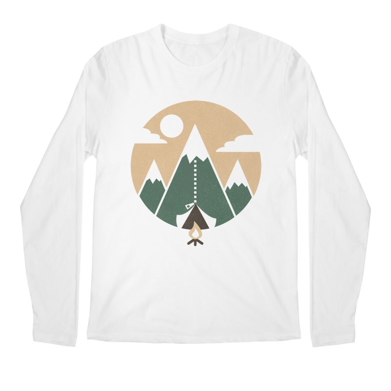 Mountain tent Men's Regular Longsleeve T-Shirt by Rodrigobhz
