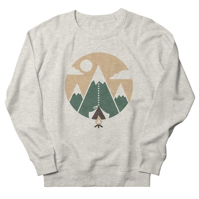 Mountain tent Men's French Terry Sweatshirt by Rodrigobhz