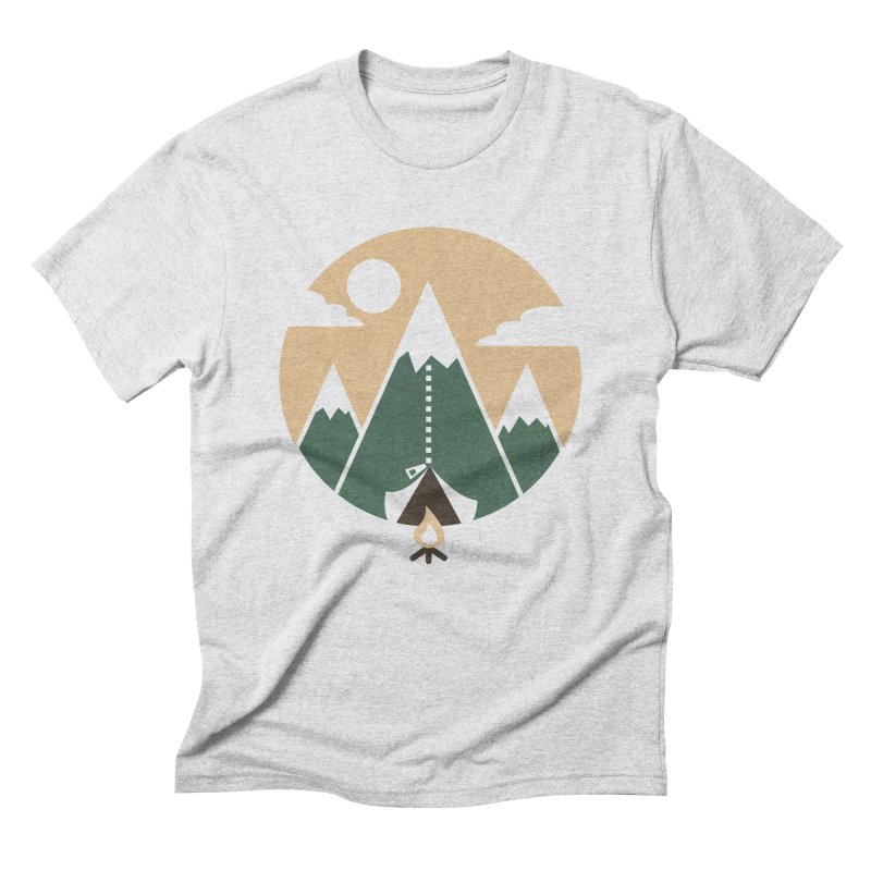 Mountain tent Men's Triblend T-Shirt by Rodrigobhz