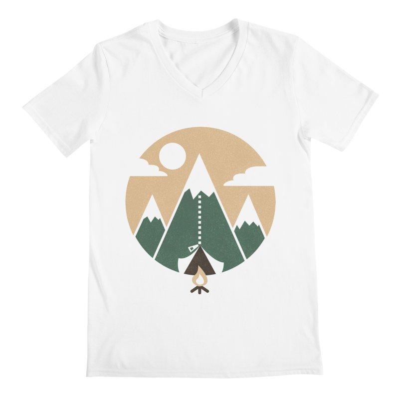 Mountain tent Men's V-Neck by Rodrigobhz