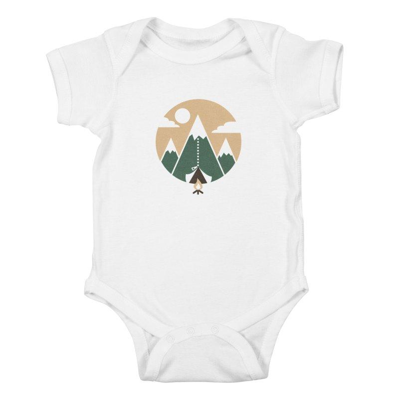 Mountain tent Kids Baby Bodysuit by Rodrigobhz