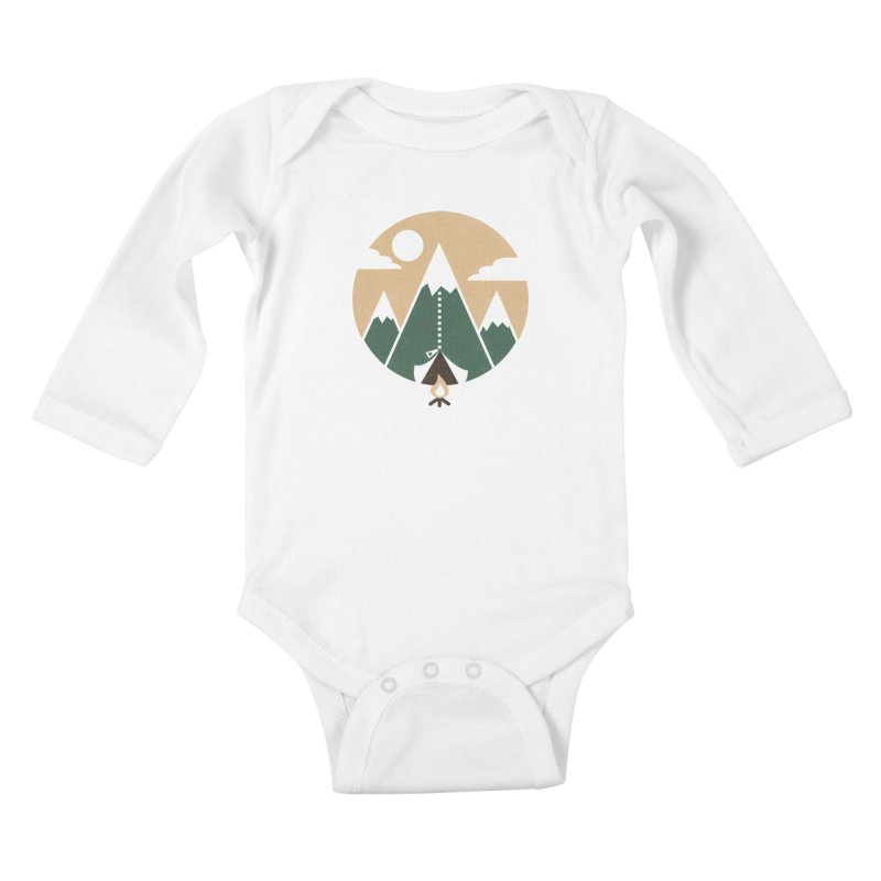 Mountain tent Kids Baby Longsleeve Bodysuit by Rodrigobhz