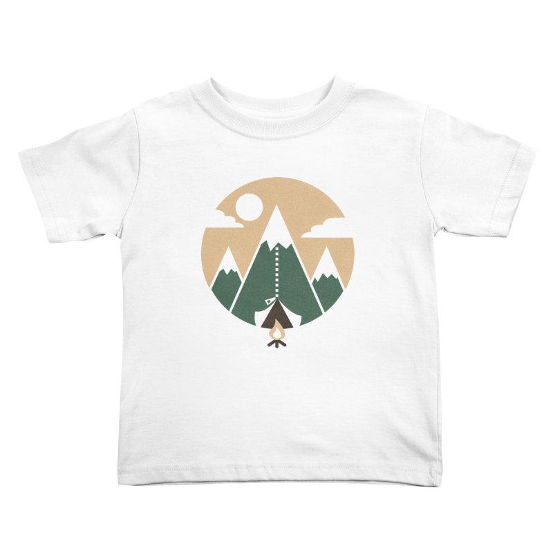 Mountain tent Kids Toddler T-Shirt by Rodrigobhz