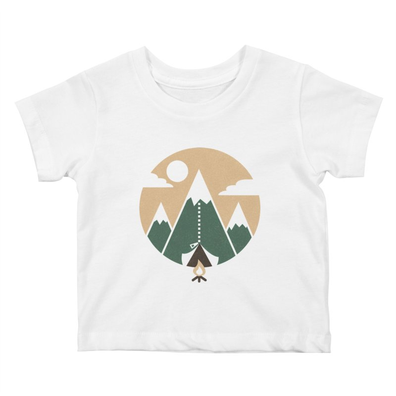 Mountain tent Kids Baby T-Shirt by Rodrigobhz