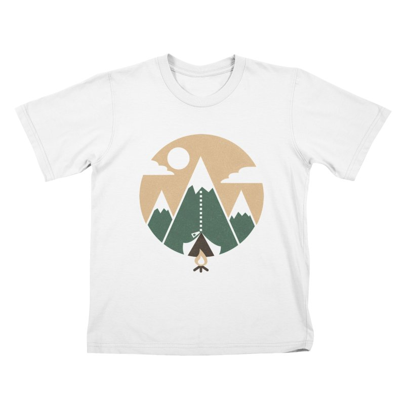 Mountain tent Kids T-Shirt by Rodrigobhz