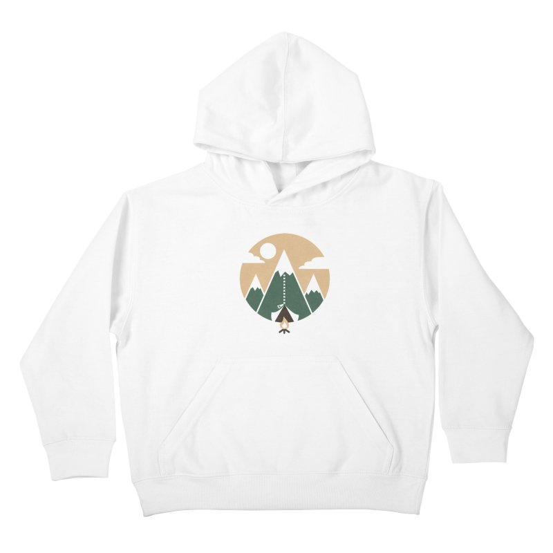 Mountain tent Kids Pullover Hoody by Rodrigobhz