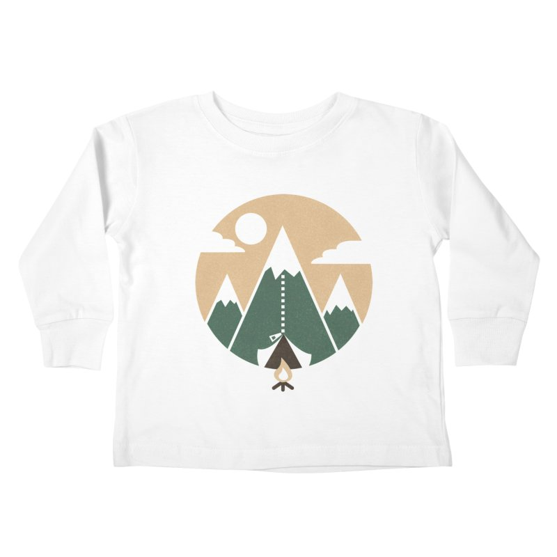 Mountain tent Kids Toddler Longsleeve T-Shirt by Rodrigobhz