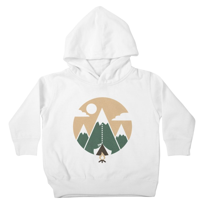 Mountain tent Kids Toddler Pullover Hoody by Rodrigobhz