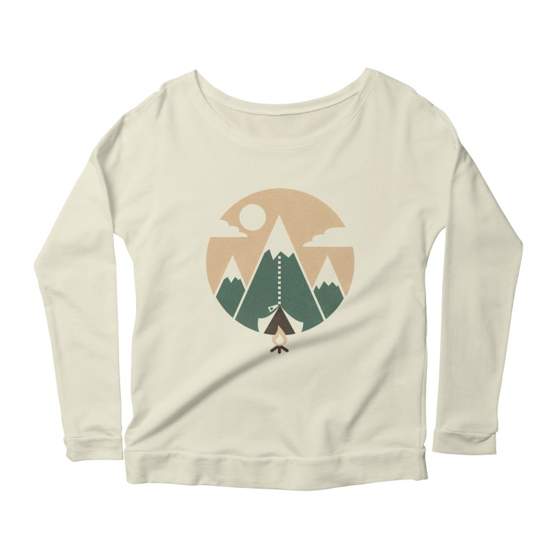 Mountain tent Women's Longsleeve Scoopneck  by Rodrigobhz