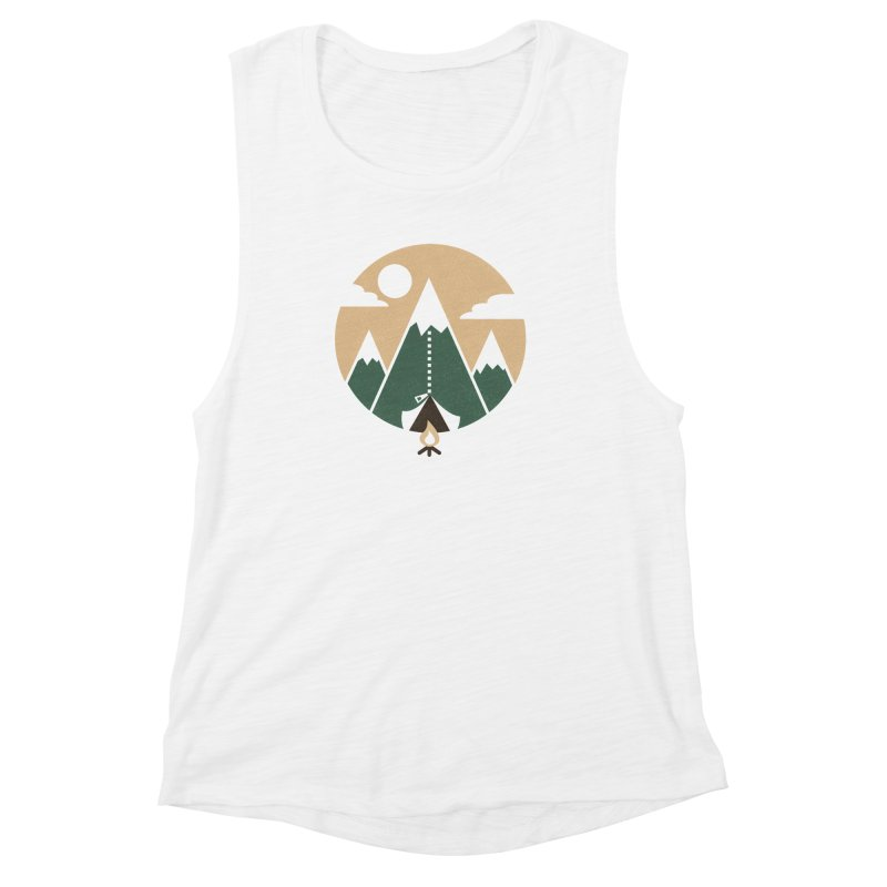 Mountain tent Women's Muscle Tank by Rodrigobhz