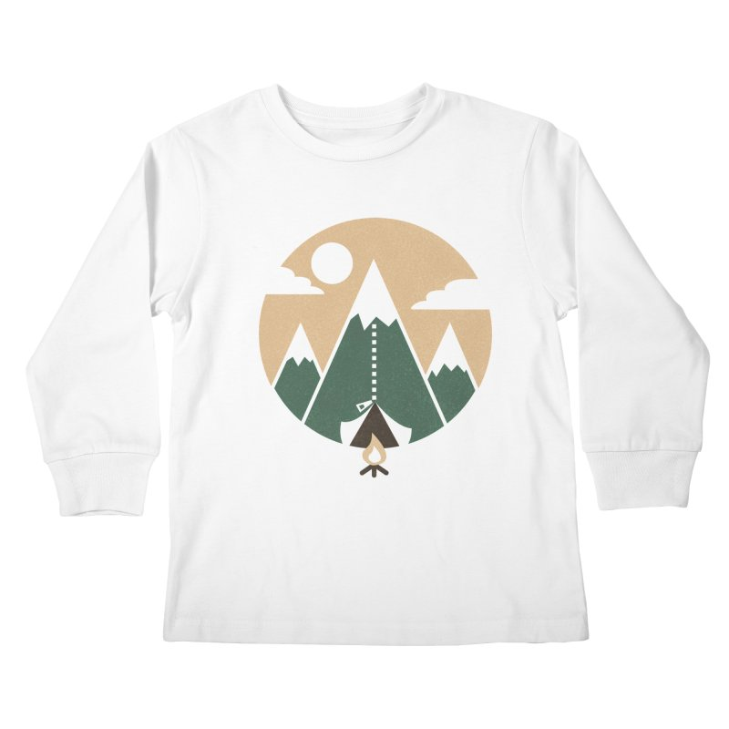 Mountain tent Kids Longsleeve T-Shirt by Rodrigobhz