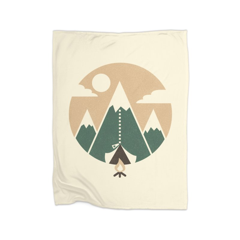 Mountain tent Home Fleece Blanket by Rodrigobhz