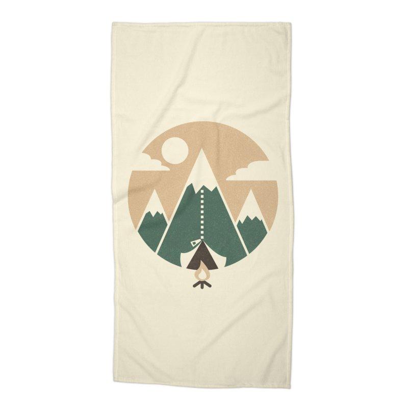 Mountain tent Accessories Beach Towel by Rodrigobhz